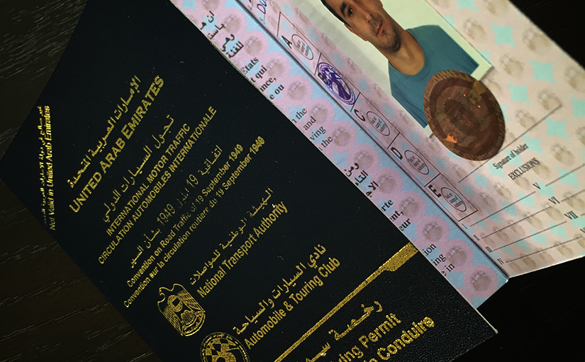 UAE international driving licence