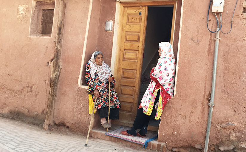 Abyaneh women chatting away