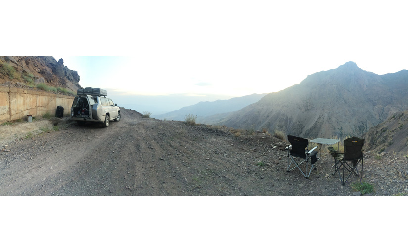 Our camping spot in the Alamut Valley