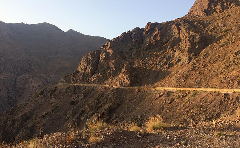 The narrow road where we had to do a u-turn
