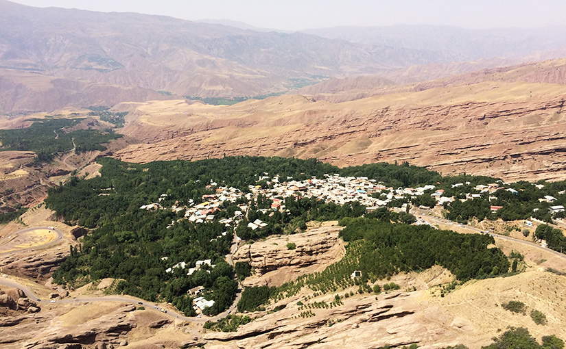 The view from the Alamut Castle