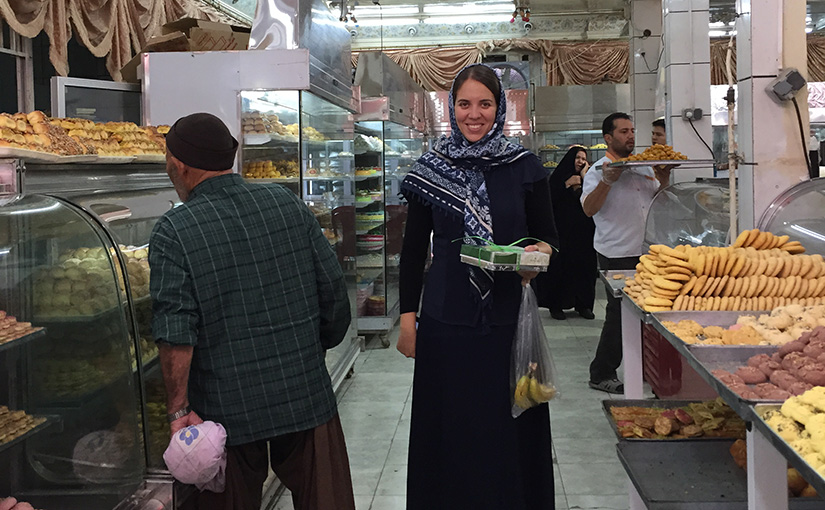 Sampling the local sweets in Kashan