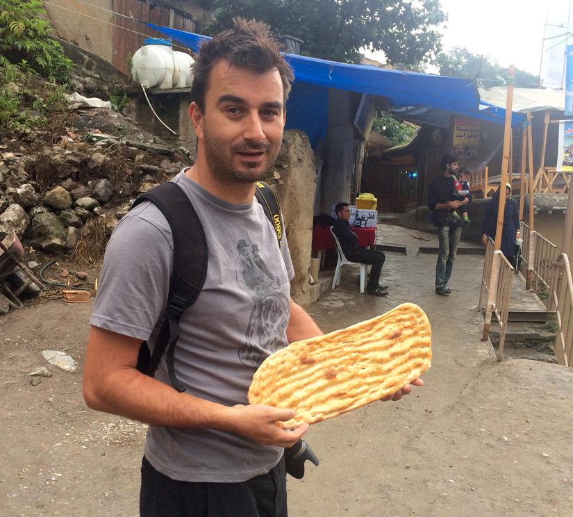 Buying fresh bread in Masouleh