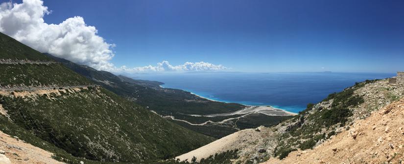 Beautiful Albanian coastline