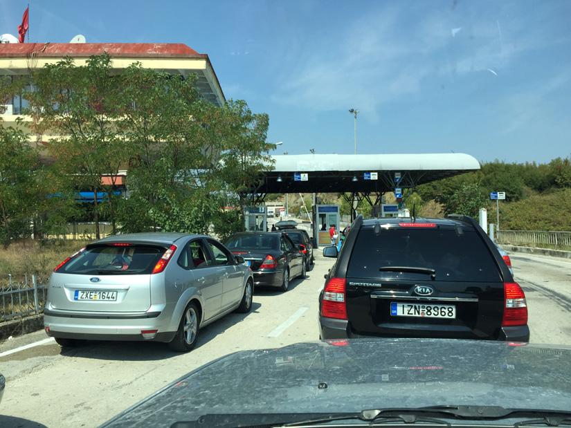 Crossing into Albania