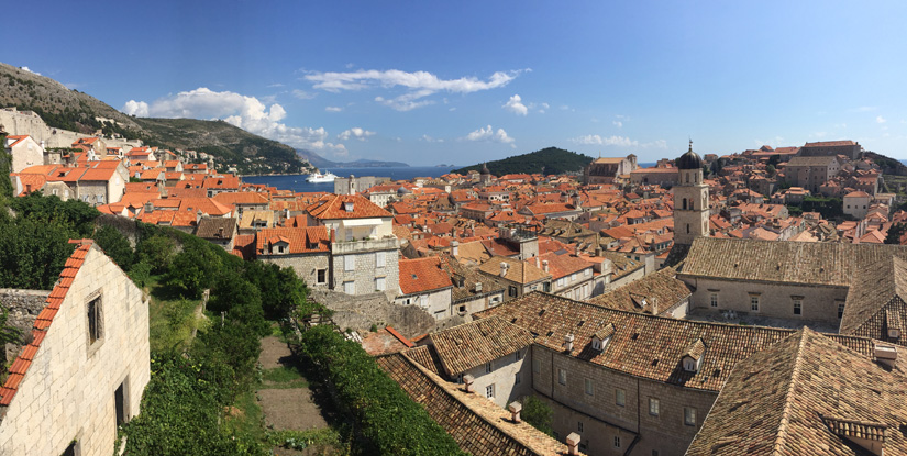 Dubrovnik viewed from the city wall