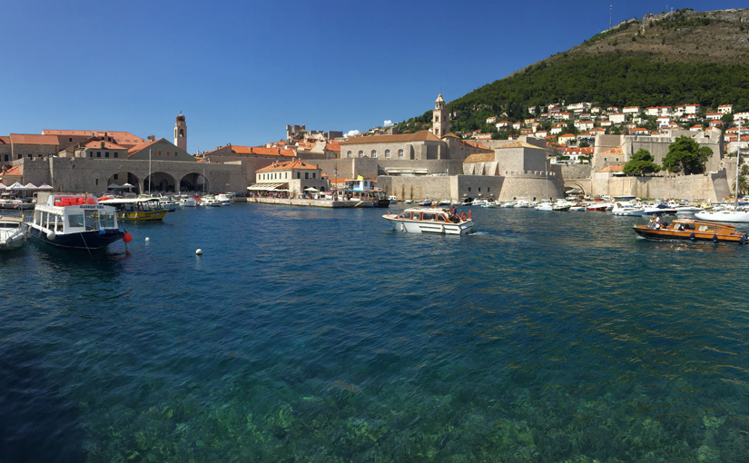 Arriving in Dubrovnik by boat