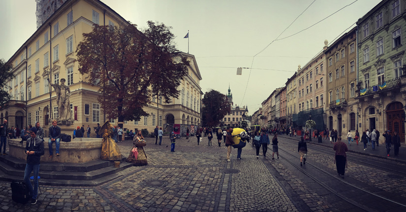 The streets of Lviv