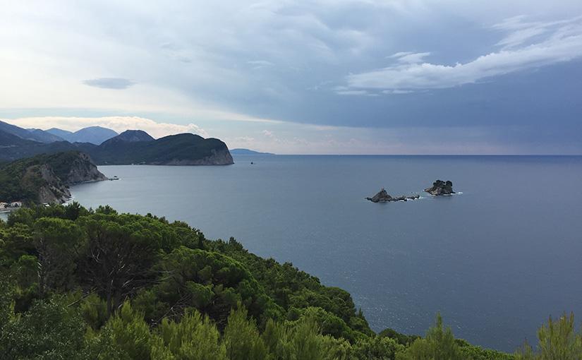 Islands on the coastline