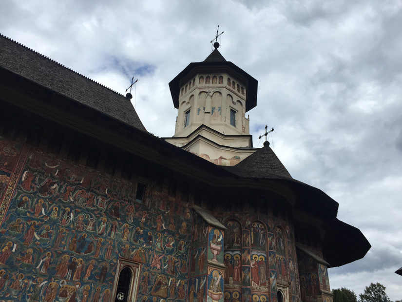 One of the painted monasteries of Moldavia