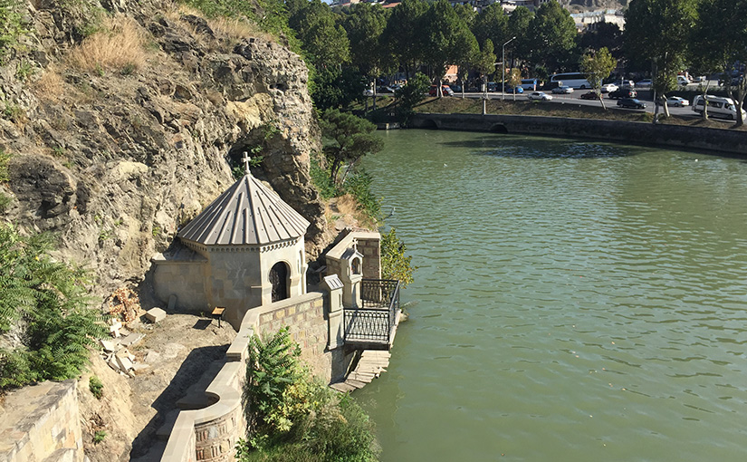 By the river in Tbilisi